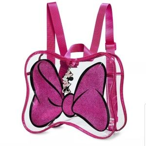 Disney Minnie Mouse Bow Shaped Clear Travel Bag